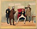 A patient refusing the prescriptions of opposing doctors; sa Wellcome V0011364.jpg