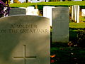A soldier of the Great War, known unto God; Essex Farm cemetery 2999986145.JPG