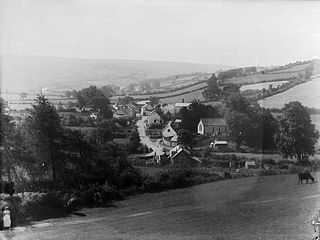 Nantmel hamlet in the county of Powys, Wales