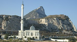 Europa Point - View of the Southern Face of the Mosque.