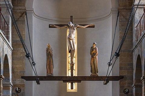 Romanesque crucifixion group at Seckau Basilica, Styria, Austria