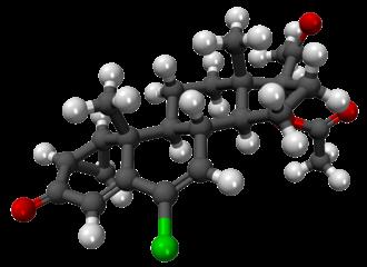 Cyproterone acetate - Image: Acetato de ciproterona 3D