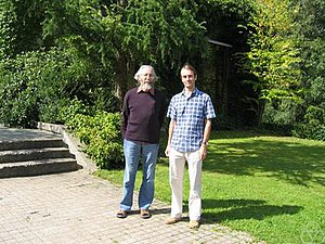 Peter Aczel - Peter Aczel (left) with Michael Rathjen, Oberwolfach 2004