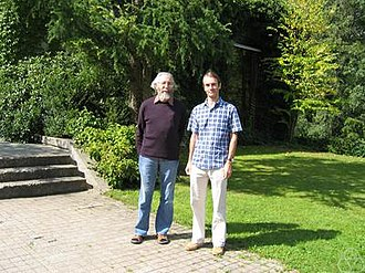 Peter Aczel - Peter Aczel (left) with Michael Rathjen, Oberwolfach 2004