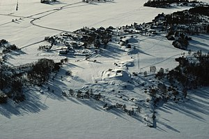 Adelsö - Adelsö barrows in the snow
