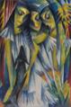 Adolf de Haer Drei Mädchen mit Hund c1919.png