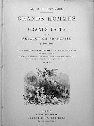 Jean Baptiste Marius Augustin Challamel - Album du Centenaire. 1889, frontispice