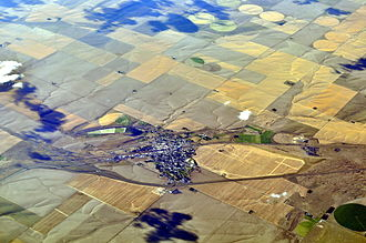 Ritzville, Washington - Aerial view of Ritzville, 2013