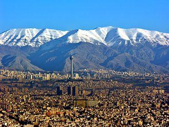 Alborz - Image: Aerial View of Tehran 26.11.2008 04 35 03