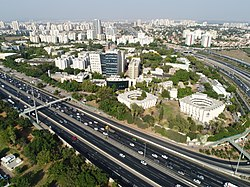 Aerial photograph of Bar-Ilan University (21004322376).jpg