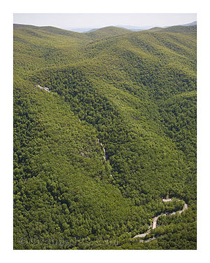 Crabtree Falls - Image: Aerial view of Crabtree Falls
