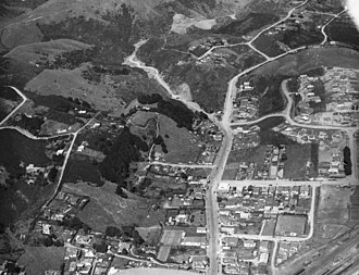 Johnsonville, New Zealand - An aerial view of Johnsonville in 1939