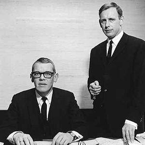 Randstad Holding - Founders Ger Daleboudt and Frits Goldschmeding (r) eight years after starting their company