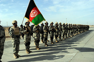 Afghan Border Police - Afghan Border Police (ABP) Regional Command - West in Herat Province of Afghanistan.