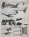 Agriculture; a plough and other implements. Engraving by A. Wellcome V0025702EL.jpg