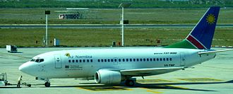 Cape Town International Airport - Air Namibia Boeing 737-500 at Cape Town International Airport, May 2010