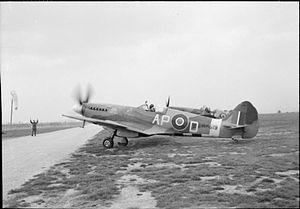RAF Lympne - Aircraft of the Royal Air Force, 1939-1945. Supermarine Spitfire F Mk XIV RM619