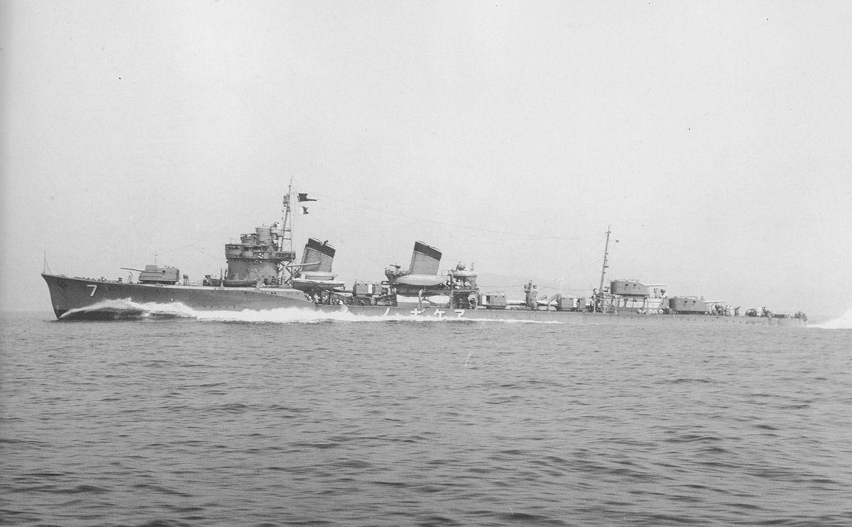 Japanese battleship in the sea, 1930s 99