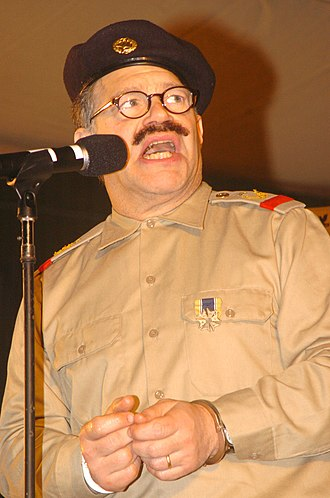 Al Franken - Franken playing Saddam Hussein while entertaining service members in Iraq (2005)