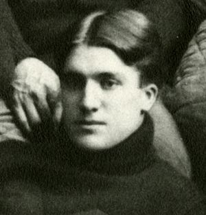 Alanson Weeks - Weeks cropped from 1898 University of Michigan team photograph