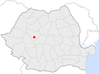 Location of Alba Iulia