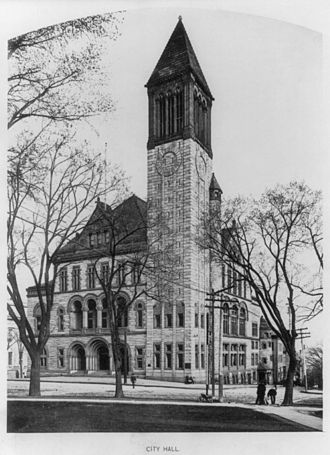 History of Albany, New York (1860–1900) - Albany City Hall in 1897, completed in 1881.