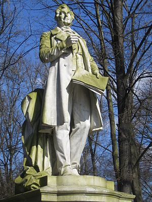 Albert Lortzing - Lortzing's statue in the Berlin Tiergarten, by Gustav Eberlein