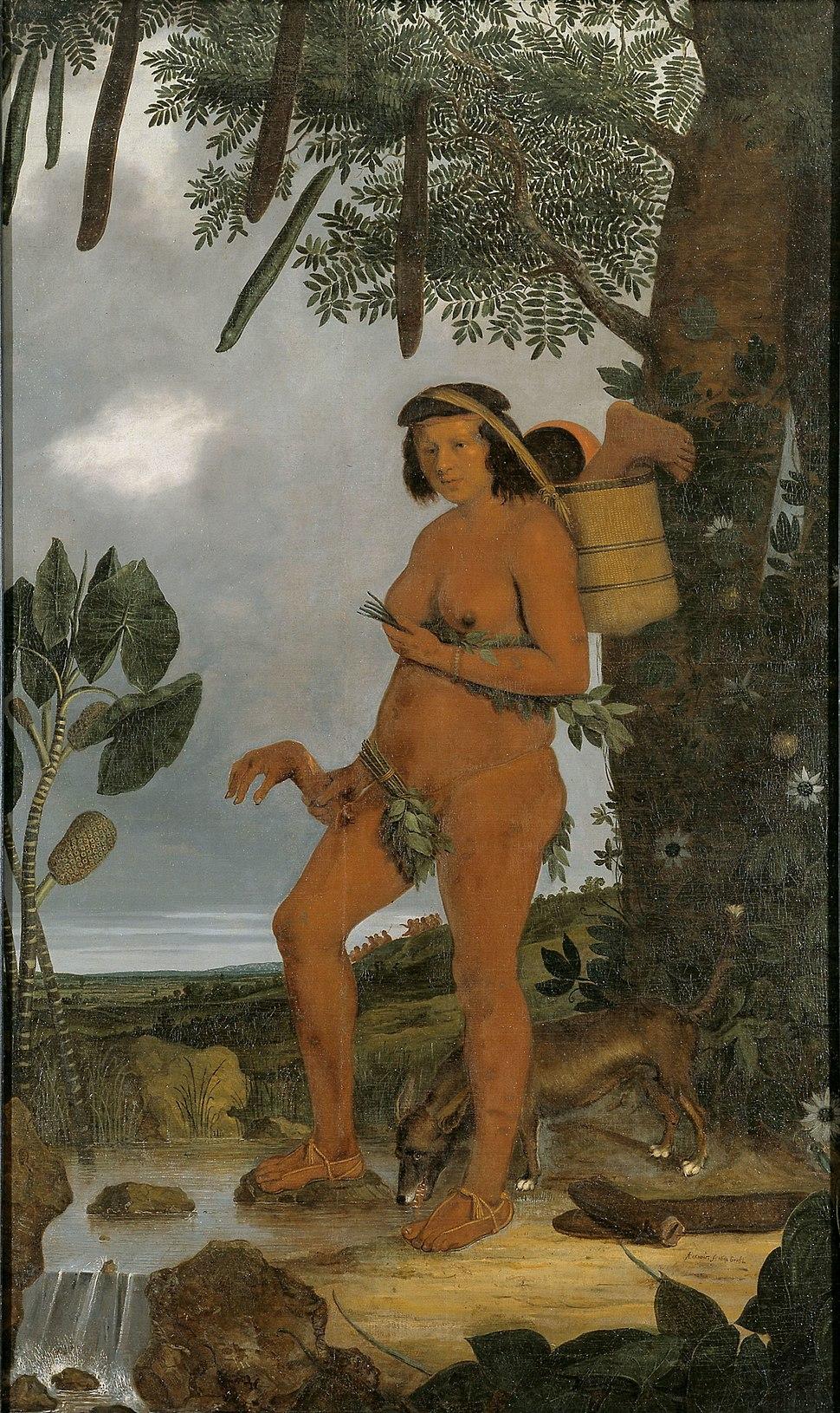Albert Eckhout Tapuia woman 1641
