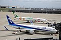 All Nippon Airways Boeing 767-381ER (JA623A 40894 1001) & Eva Air Airbus A330-302X (B-16332 1268) (8085660853).jpg
