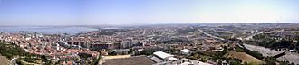 Almada - Panoramic view of Almada seen from the Sanctuary of Christ the King.