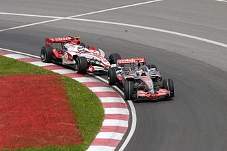 2007 Canadian Grand Prix - In the closing stages, Takuma Sato passed Alonso to take sixth position: the best result in the Super Aguri team's history.
