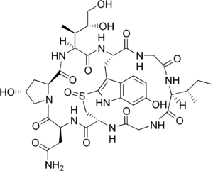 α-アマニチンの構造