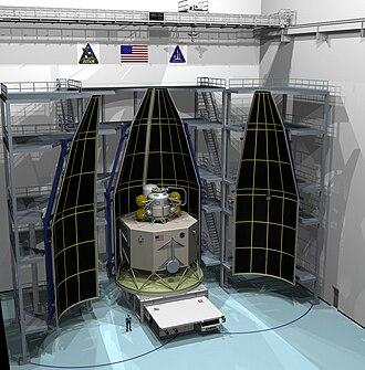Altair (spacecraft) - Artist's rendering of Altair being encased in a shroud