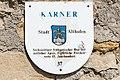Althofen Friedhofsteig Friedhof gotischer Karner Tafel 24062015 5176.jpg