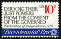 American Revolution Bicentennial Deriving Their Just Powers... 10c 1974 issue U.S. stamp.jpg