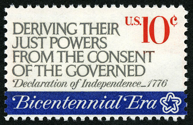 American Revolution Bicentennial Deriving Their Just Powers... 10c 1974 issue U.S. stamp