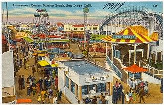Belmont Park (San Diego) - 1940s postcard