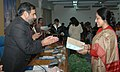 Anand Sharma presenting the first prize, of Bhartendu Harishchandra Awards-2006, in Women's Issues to Smt. Anamika, in New Delhi on January 06, 2009.jpg