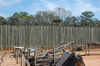 Andersonville National Historic Site - Reconstruction of a section of the stockade wall