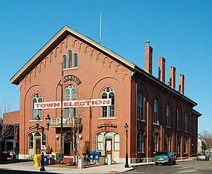 Andover, Massachusetts - Andover's Old Town Hall, located in downtown Andover