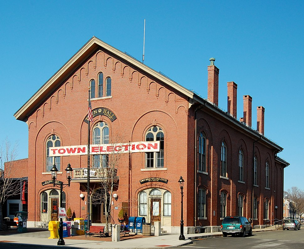 Andover's Town Hall, located in downtown Andover
