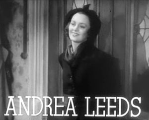Screenshot of Andrea Leeds from the trailer fo...