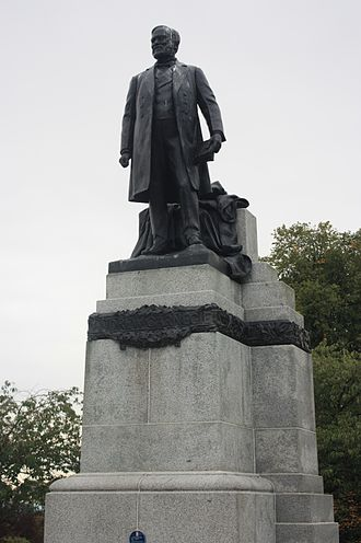 Richard Reginald Goulden - Andrew Carnegie by Richard Goulden. 1914, Pittencrieff Park, Dunfermline