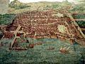 Anguillara Sabazia, Palazzo Orsini - mappa affrescata di Napoli.jpg