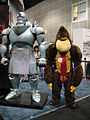Anime Expo 2011 - Alphonse Elric statue and Donkey Kong (5892746139).jpg