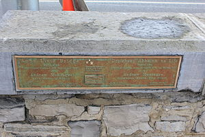 Anna Livia Bridge - Plaque on the bridge