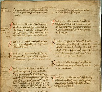 Annals of Ulster - Manuscript of the Annals of Ulster 500–1000AD