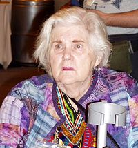 Anne McCaffrey på 63:e World Science Fiction Convention, 2005
