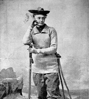 Annie Smith Peck - Annie Smith Peck wearing climbing clothing in 1878.