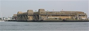 Submarine base - Keroman III Submarine Base, a former German submarine base in Lorient, Brittany.
